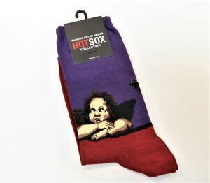 Hot Sox Ladies Cotton Blend Socks Art Series Raphael's Angels Purple Claret