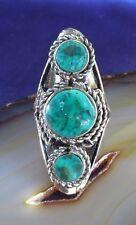 Chrysocolla Green Ethno Inka Maya Native Style 10 ~ Ring Alpaca Nickel Silver