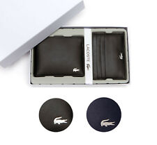 Lacoste Premium Men's FG Small Billfold Wallet Credit Card Holder NH1994FG