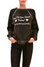 Wildfox Women's Summer Finally Friday Sweater Clean Black XS RRP £104 BCF712