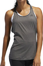 adidas 3 Stripe Womens Training Vest Tank Top - Grey