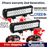 2x 72W 12 inch CREE LED Light Bar Combo Beam Work OffRoad Truck Driving Jeep SUV