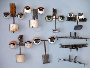 Lot Antique Metal Doll Eyes Pairs with Sleep Mechanism P21