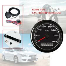 85MM GPS 140MPH stainless steel Speedometer Gauge Car Motorcycle Backlight