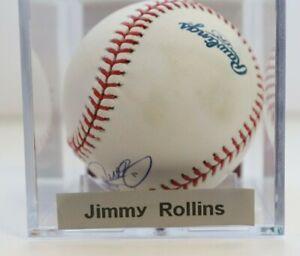 Jimmy Rollins Signed Auto JSA Ball Baseball Autographed