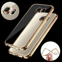 Soft TPU Transparent Ultra Slim Silicone Plating Cover Case For Iphone 6/7/8/X K