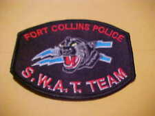 FORT COLLINS COLORADO  S.W.A.T  POLICE PATCH *** FREE SHIP IN USA ***