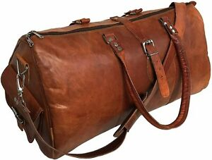 Leather Backpack Man / Women Duffel  Bag Gym Luggage Carry on Airplane Bag