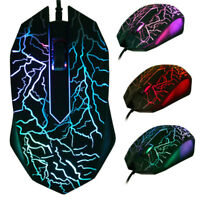 New LED Wired Mouse Cordless Optical Mice For PC Laptop Computer 2.4GHz Games