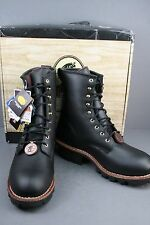 "Chippewa Men  8"" Waterproof Insulated  Logger Steel toe work & safety Sz 9.5M"