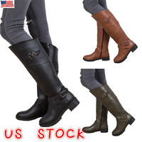 Womens Mid Calf Slouch Boots Faux Suede Ladies Winter Rouched Casual Shoes Size