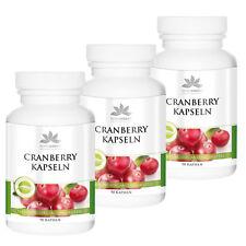 Herbadirekt Cranberry (18.12 €/100)  3er Pack für 1/4 Jahr 270 Kapseln