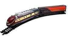 Eisenbahn Schnellzug Set Modern Train Lok Lokomotive Waggons Schienen mit Licht