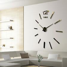 DIY analoge 3D Spiegel Oberfläche große Anzahl Wanduhr Aufkleber Home Decor