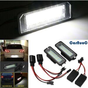 2Pcs LED Number License Plate Light Lamp For VW GOLF MK4/5/6/7 Seat Ibiza Passat