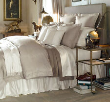 Sferra MICCA King Duvet Cover Sable Egyptian Cotton & Silk Sateen Jacquard NEW