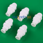 5PCS RO Water Male White Fittings Bulkhead Quick Connector 1/4 inch Tube