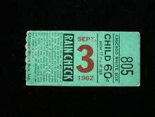 September 3, 1962 Cleveland Indians @ Chicago White Sox Ticket Stub