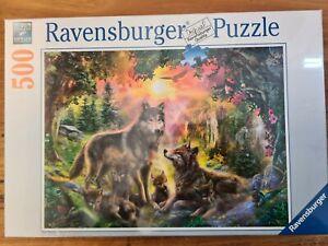 Wolf Jigsaw Puzzle 500pc ravensburger Eagle Bird Wolves Jungle Flower Sunset Ani