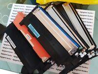LOTTO kit 9 TONER per STAMPANTE SAMSUNG nero blu ciano CLP-360 365 CLX 3300 3305