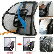 Black Vent Cushion Mesh Back Lumbar Braces Support Car Office Chair Seat 41*39cm