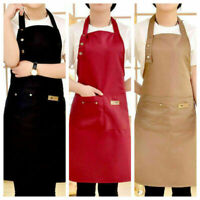Chef Apron Kitchen Waterproof Pocket Catering Cooking Butcher Baking Craft