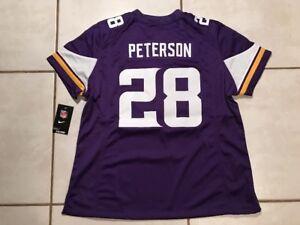 NWT NIKE Minnesota Vikings Adrian Peterson SEWN  NFL Jersey Women 2XL MSRP $145