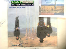 ALAN PARSONS PROJECT ORIGINAL PRODUCTION ARTWORK FOR TRY ANYTHING ONCE