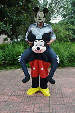 Halloween Mickey Mouse Mascot Costume Ride On Piggy Back Adults Dress