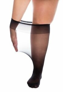 Super Wide Knee High Pop-Socks Extra Large XXL Swollen Legs Ankles 20-Denier