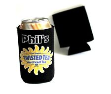 "Twisted Tea Can Cooler ""Hard Tea"" Holds 12oz can,Neoprene- Personalized for Free"