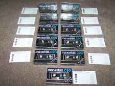 11 Maxell UD XL II C 90 Kassetten / Vintage Tape unbeschriftet / Epitaxial Band