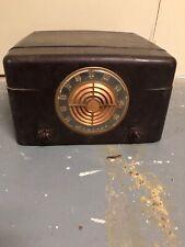 Vintage Admiral Record Player AM Tube Radio Bakelite Model 6512N Not Working
