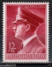WW2 German Reich stamp 1942 Hitler's 53rd birthday. Mi.813X MNH. CV€15