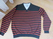 Pullover v. Canda C&A - Gr. 2XL - grau / rot - Baumwolle - wie neu