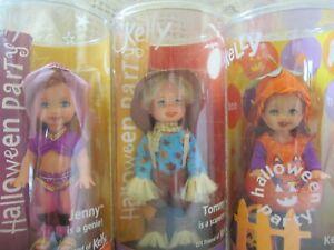 Mattel Kelly Dolls Barbie Little Sister New NRFB MIB 3 Halloween Dolls