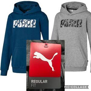 Boys Puma Logo Hoodies Tracksuit Jumper With Hood