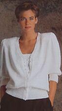 """Señoras Chaqueta de punto ~ ~ ~ ~ diseño de ojal Camisola Picot ~ ~ Tejer patrón Talla 28-42"""" (S11)"""