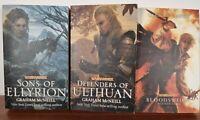 Warhammer 40k Book Bundle x3  Bloodsworn Sons of Ellyrion Defenders of Ulthuan