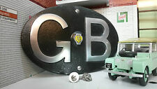 Land Rover Series Classic Vintage AA Black GB Great Britain Touring Badge/Sign