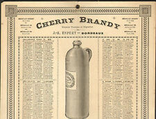 BORDEAUX CHERRY BRANDY ESPERT CALENDRIER 1896