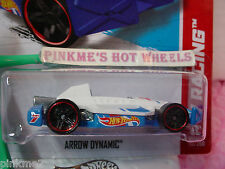 Case N 2013 Hot Wheels ARROW DYNAMIC #110 US Team~White w/Blue M~HW Racing~Race