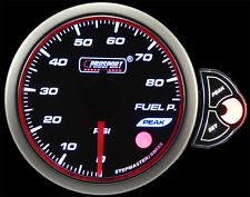 "Halo Fuel Pressure Gauge Amber/White/Blue 52mm (2 1/16"") With Peak/Warn dimmable"