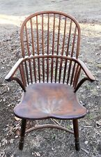 Antique English Windsor Tall Bowback Armchair