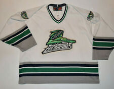 Florida Everblades Hockey Jersey XL White Blue Green SP All Sewn ECHL--B20