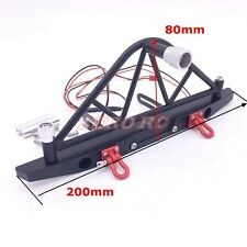 Axial SCX10 1/10 Rc METAL REAR BUMPER BULL BAR WITH CARRIER LED LIGHT SHACKLES