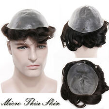 """Hand Tied 8x10"""" Base Replacement System Hairpiece Wig Men Toupee 100% Human Hair"""