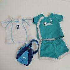 American Girl Soccer Jersey Outfit with Bag Genuine Authentic Pre-Owned Stars