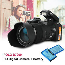 D7200 3.0 inch 1080P HD Digital Multi-media 5MP CMOS Camera Camcorder +2 Battery
