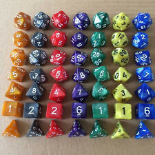 7x Acrylic Dice Bar Club Game Roleplay Table Board Multi-sided Entertainment Toy